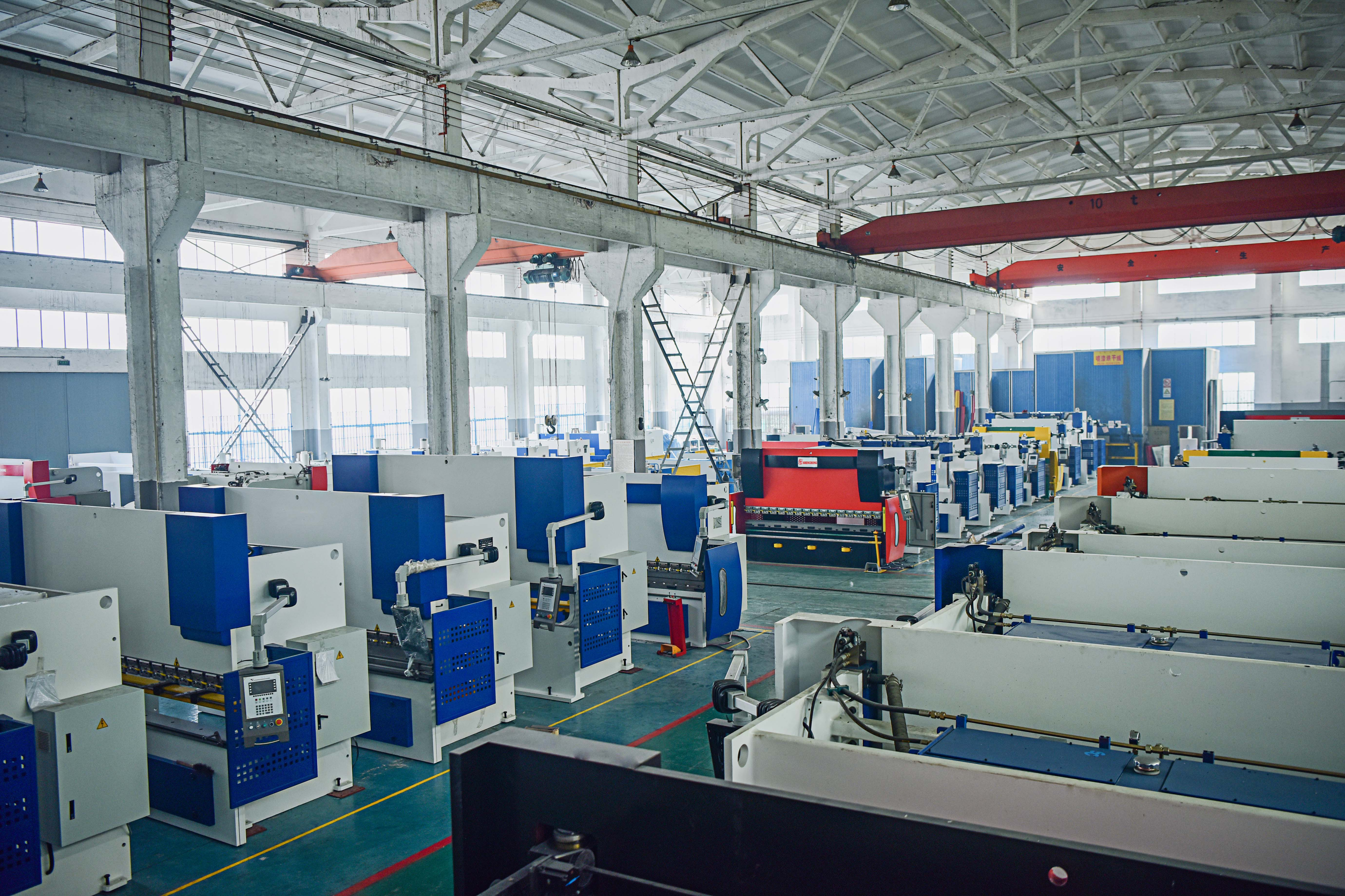 hydraulic bending machines manufacturing factory workshop