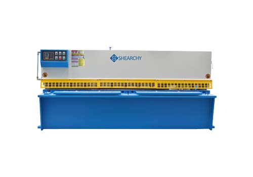 E21S swing beam CNC hydraulic shear working table swing beam shear valve swing beam shear electrical carbnet ELGO P40 guillotine shear table machine show room banner 3 roller bending rolls CE-ISO China NC bending machine press brake metal shears bending rolls rolling machine manufacturer factory supplier