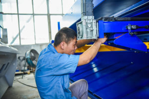 Steel Hydraulic Shears Cutting Machine Back Look